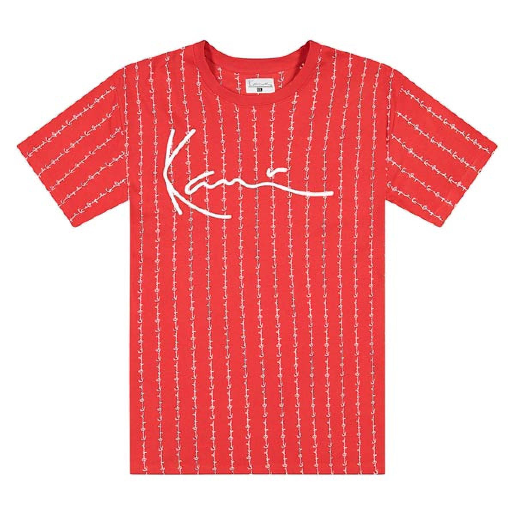 Camiseta Karl Kani Signature Logo Pinstripe