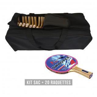 Kit de raquetas (bolsa + 20 raquetas) Sporti France Shooter