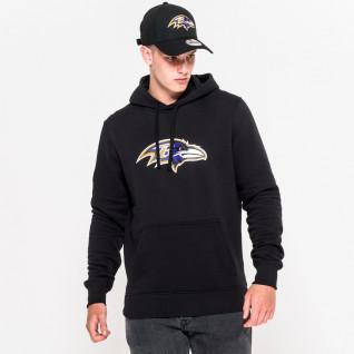 Sudadera con capucha New Era con el logotipo del equipo Baltimore Ravens