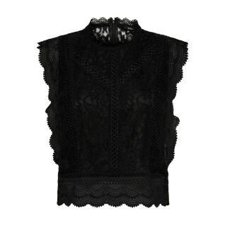Camiseta de mujer sin mangas Only lace wovens