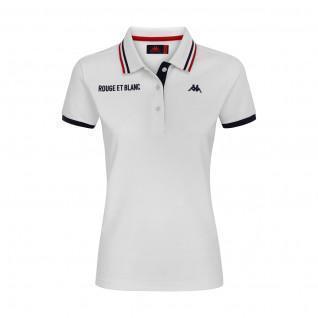 Polo de mujer AS Monaco 2020/21 blanco