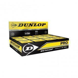 Juego de 12 pelotas de squash Dunlop pro