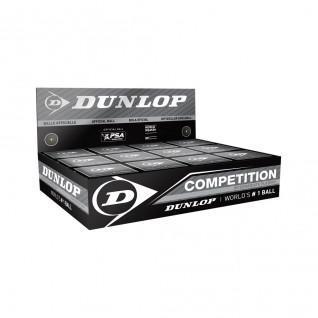 Juego de 12 pelotas de squash Dunlop competition