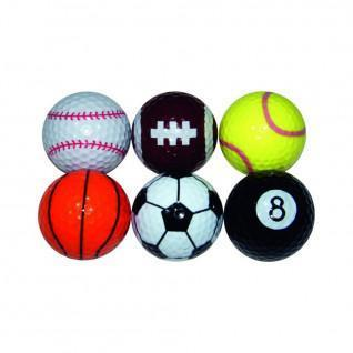 Paquete de 6 bolas Longridge sport fantaisie