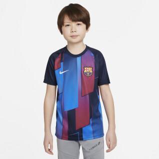 Camiseta niño fc barcelona dynamic fit strike 2021/2022