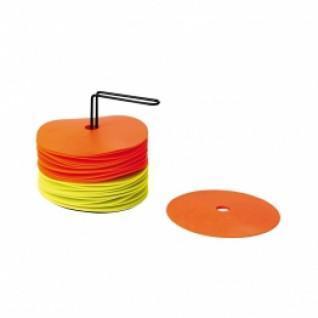 Kit de 24 discos con soporte (12 amarillos + 12 naranjas)