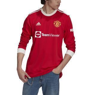 Camiseta de manga larga del manchester united 21/22