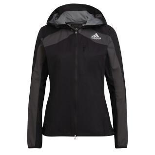 Chaqueta con capucha para mujer adidas Adizero Marathon