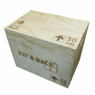 Salto de caja de madera Fit & Rack 50x60x75