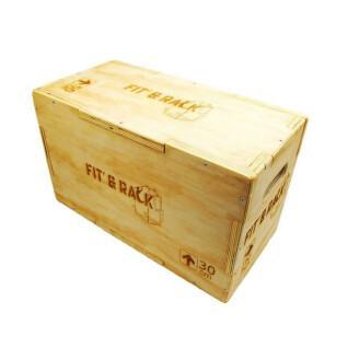 Salto de caja de madera Fit & Rack 25x30x50