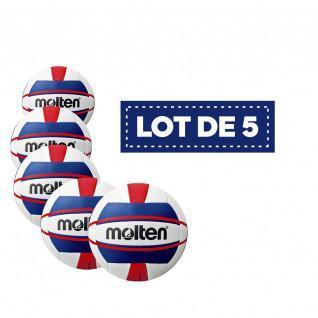 Lote de 5 balones de voleibol de playa mujer V5B1500