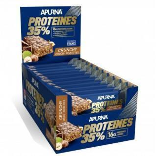 Paquete de 20 barras Apurna HP Crunchy Chocolat-Noisette
