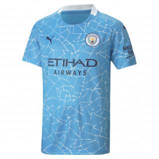 Camiseta de casa del Manchester City 2020/21 para niños